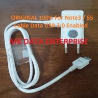 DIJUAL Charger Samsung Note3 Note 3 S5 + Kabel Data USB 3.0 Original