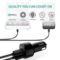 DIJUAL AUKEY CC-T8 FAST CAR CHARGER WITH DUAL QUICK CHARGE 3.0 MURAH