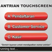 Mesin Antrian Touch screen dilengkapi IKM