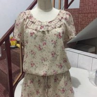 Mini Dress Flower Klein plus