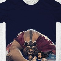 Kaos Anak & Dewasa Beauty And The Beast - Beauty And The Beast Cartoon