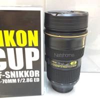 Gelas Mug Lensa Nikon AF-SNIKKOR 24-70mm bisa zoom putar