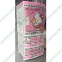 Lemari plastik napoly napolly hello helo kity kitty pink bandung