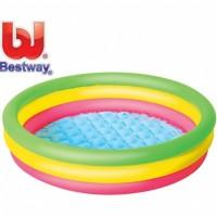 Bestway Rainbow Summer Set Pool 102x25cm. Kolam Renang Karet Anak.