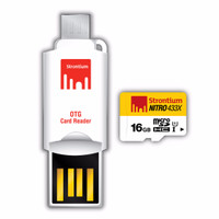 Strontium 16GB NITRO MicroSD with OTG Card Reader up to 65 mb/s ..