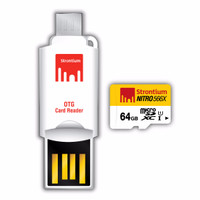 Strontium 64GB NITRO MicroSD with OTG Card Reader up to 85 mb/s ..