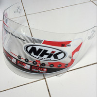 Kaca Helm Original Helm NHK RX9 / GM Race Pro Full Face Pinlock ready