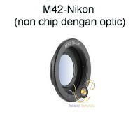 Adapter M42 to Nikon dengan Optic Correction