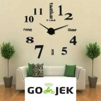 Jam Dinding Besar Raksasa Giant Wall Clock 80-130cm Diameter ELET00659