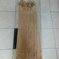 long dress pesta payetan gold 99%
