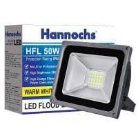 lampu led sorot hannochs hfl 50w super bright white dan warm white