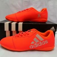 OBRAL!! HANYA SIZE 42 43 Sepatu Futsal Adidas X16 Techfit Orange