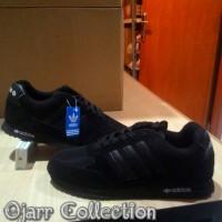 Sepatu Sekolah Adidas Neo City Racer Runner Full Hitam Black Grade Ori