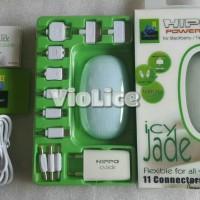 Hippo Power Bank Icy Jade 5800 mah Fullpack Garansi Resmi Blue & White