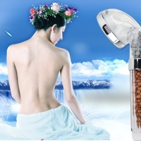 Super shower head health lifestyles crystal ionic handsho Harga Pro