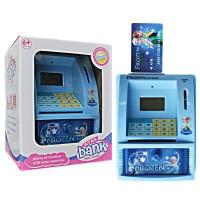 Mainan Edukatif / Edukasi Anak - ATM Bank Mini Frozen Anna Elsa Biru