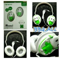 Headphone OPPO Karakter Boneka Cantik Headset Earphone + Mic