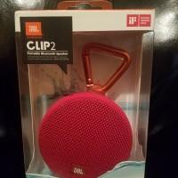 JBL Clip 2 | RED Waterproof Bluetooth Speaker | Original Garansi Resmi