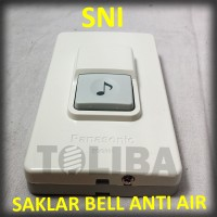 knop bell saklar bell panasonic / waterproof anti air push on bell SNI