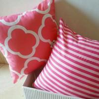 Clover Pink Sarung Bantal uk 40x40/Cushion Cover Bantal Kursi