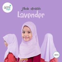 Jilbab Anak Afrakids ungu muda lavender JA016 ukuran S atau M - Size S
