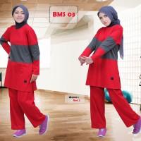 Baju olahraga muslim/baju senam muslim/stelan olahraga muslim/believe