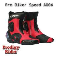 Sepatu Motor Touring Speed A004 - Merah