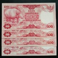 Uang Kertas Kuno Rp.100 Badak
