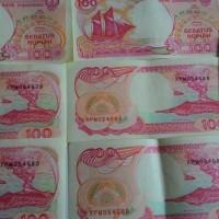 Uang Kertas Kuno Rp.100 Pinisi