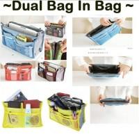 Bag In Bag Korean Organizer Double Zipper Resleting Tas HandBag Travel