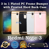 [OEM] Casing XIAOMI REDMI NOTE 3 - Case 3 in 1 Plated PC Frame Bumper
