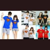 kaos couple kaos distro kaos oblong kemeja couple-New Superman