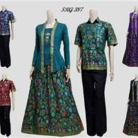 Baju Batik Couple Sarimbit Pasangan Gamis Hem Kemeja Lengan Pendek
