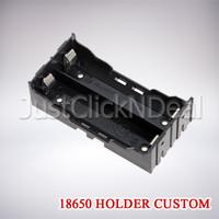 Battery 18650 Holder Custom 2 Slot Pararel Batere Baterai Kotak Case