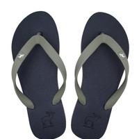 Sandal Panama / Sendal Jepit Pria Navy Hijau Muda / Sandal Pantai