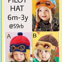 usia 6bln-3th topi bayi lucu pilot hat