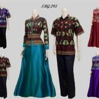 Baju Batik Couple Sarimbit Pasangan Cewek Cowok Hem Mix Velvet