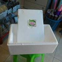 Box Sterofoam ukuran 5 liter untuk sistem wick ukuran 37x23x16 cm