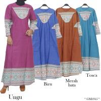 Baju Gamis Katun Batik Songket