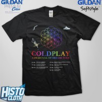 Kaos Coldplay A Head Full Of Dreams Asian Tour - CLD58