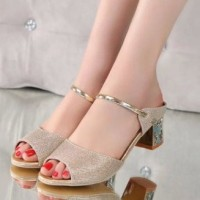 High Heels Hak Tahu US34 - Glitter Emas