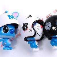 Gantungan kunci Stitch, Doraemon, lucu, imut
