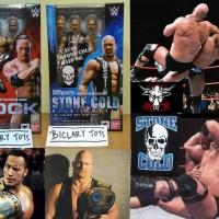 SHF The Rock + Stone Cold Steve Austin WWE Smack Down RAW Bandai ORI