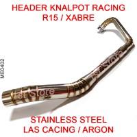 Header Pipa Knalpot Racing YZF-R15 R15 Xabre Stainless Leheran Leher
