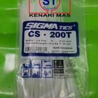 Kabel Ties / Kabel Tis / Cable Tie CS 200 T PUTIH 20 cm SIGMA