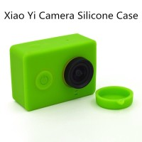 Silicone Case and Lens Cap for Xiaomi Yi Sport Camera - SSPRKA murah