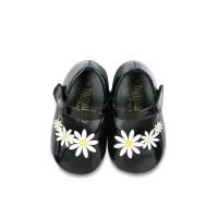 Sepatu Bayi Perempuan Tamagoo-Daisy Black Baby Shoes Prewalker Murah