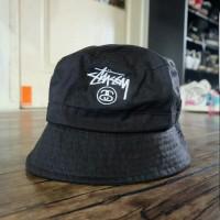 Stussy Bucket Hat Black Original