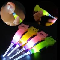 EARPICK WITH LED FLASHLIGHT - KOREK KUPING MOTIF ANIMAL GN LAMPU LED