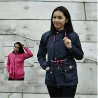 Jc- jaket vans bb parka hitam pink